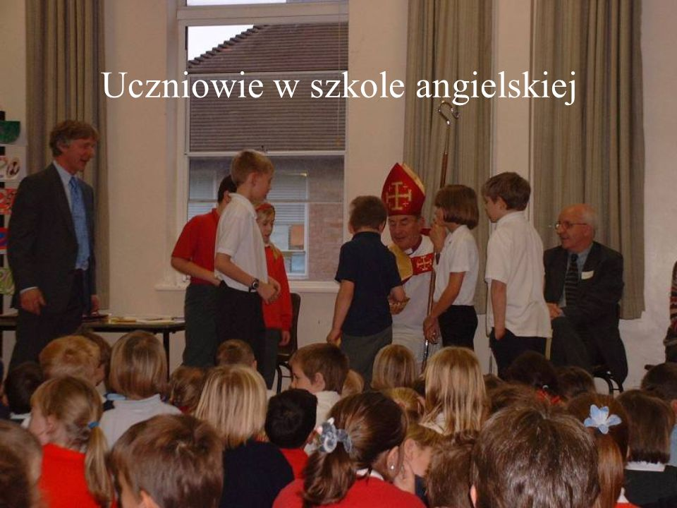 Uczniowie w szkole angielskiej