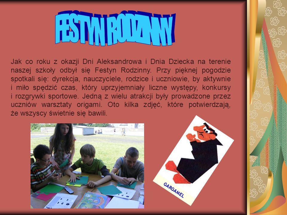 Jak co roku z okazji Dni Aleksandrowa i Dnia Dziecka na terenie naszej szkoły odbył się Festyn Rodzinny. Przy pięknej pogodzie spotkali się: dyrekcja,