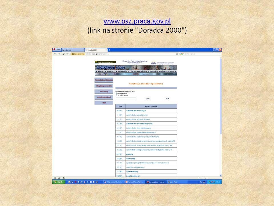 www.psz.praca.gov.pl www.psz.praca.gov.pl (link na stronie