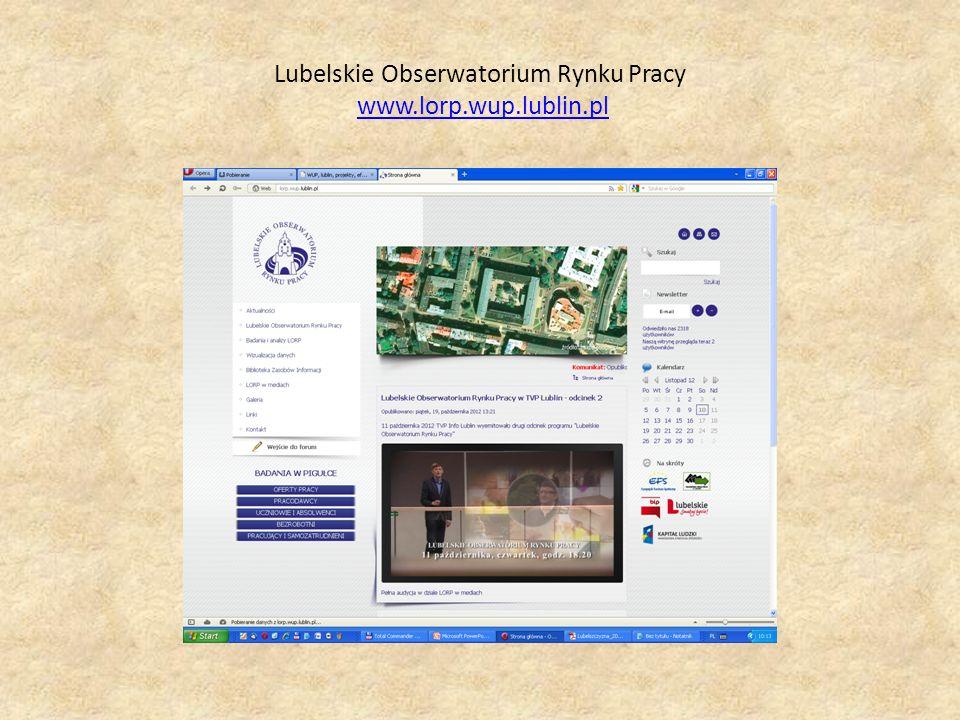 Lubelskie Obserwatorium Rynku Pracy www.lorp.wup.lublin.plwww.lorp.wup.lublin.pl