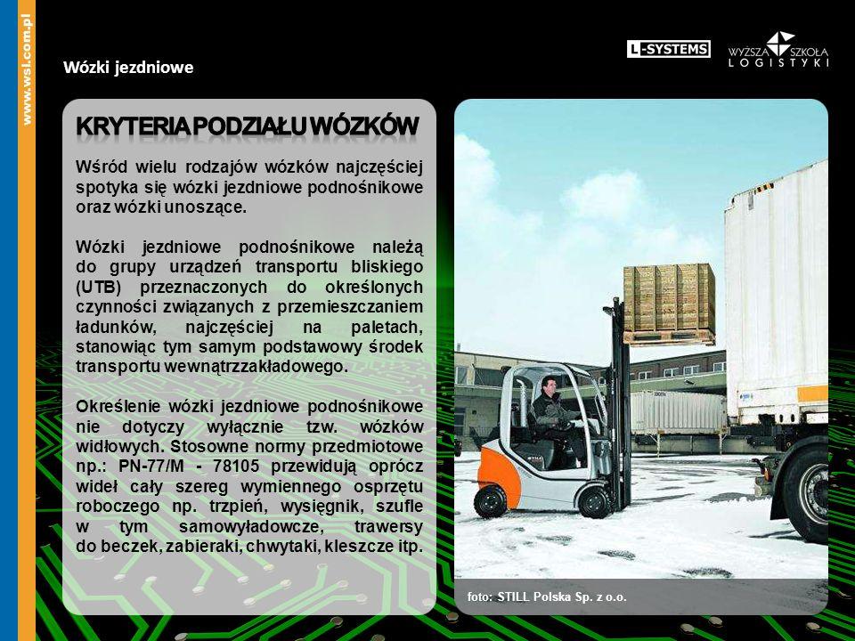 Wózki jezdniowe foto: STILL Polska Sp. z o.o.