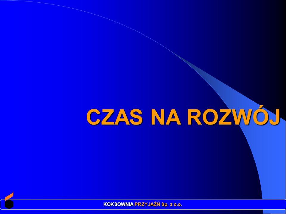 CZAS NA ROZWÓJ CZAS NA ROZWÓJ KOKSOWNIA PRZYJAŹŃ Sp. z o.o.