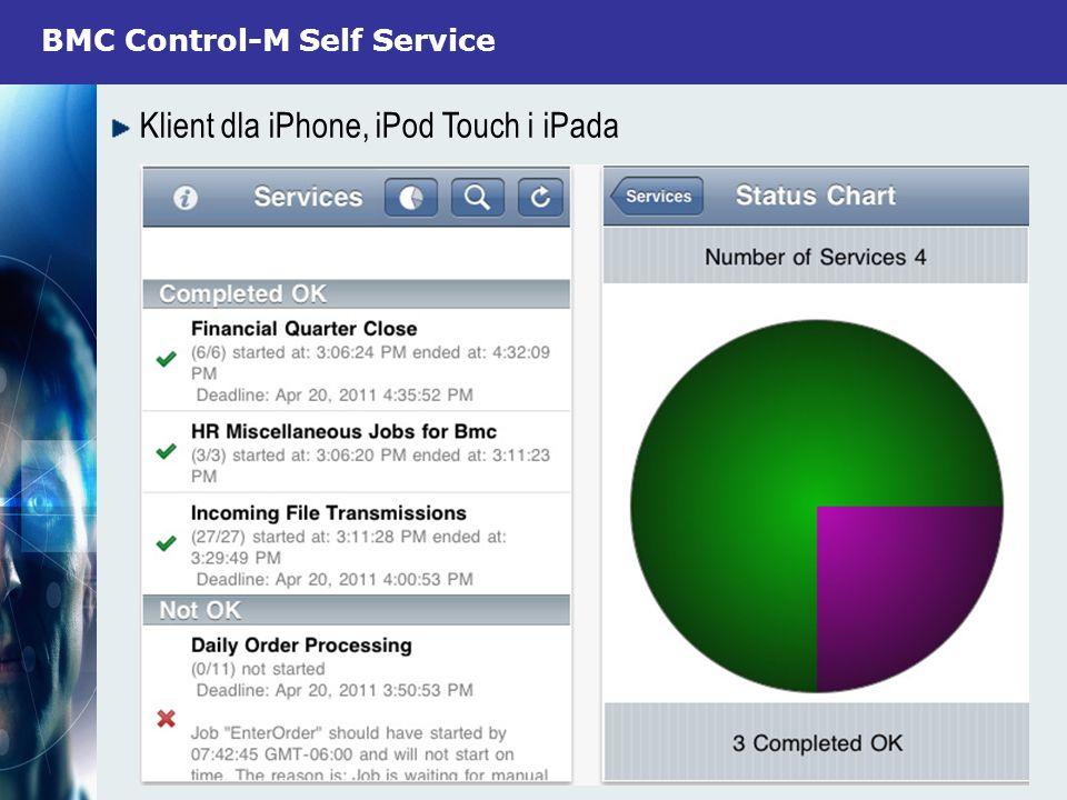 BMC Control-M Self Service Klient dla iPhone, iPod Touch i iPada