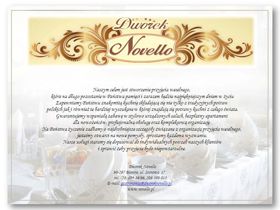 Naszym celem jest stworzenie przyjęcia weselnego, które na długo pozostanie w Państwa pamięci i zarazem będzie najpiękniejszym dniem w życiu Zapewniam