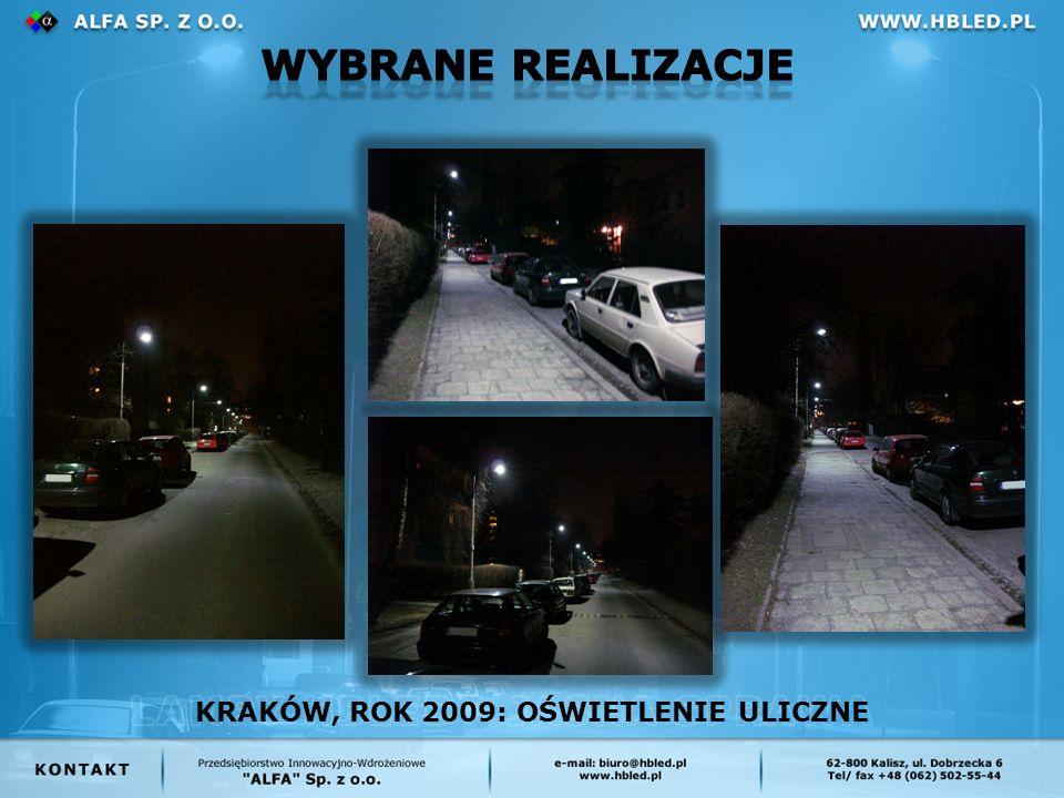 KRAKÓW, ROK 2009: OŚWIETLENIE ULICZNE