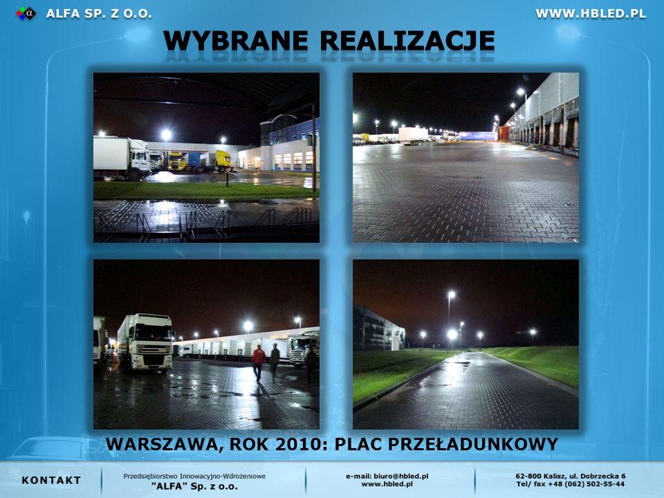 WARSZAWA, ROK 2010: PLAC PRZEŁADUNKOWY