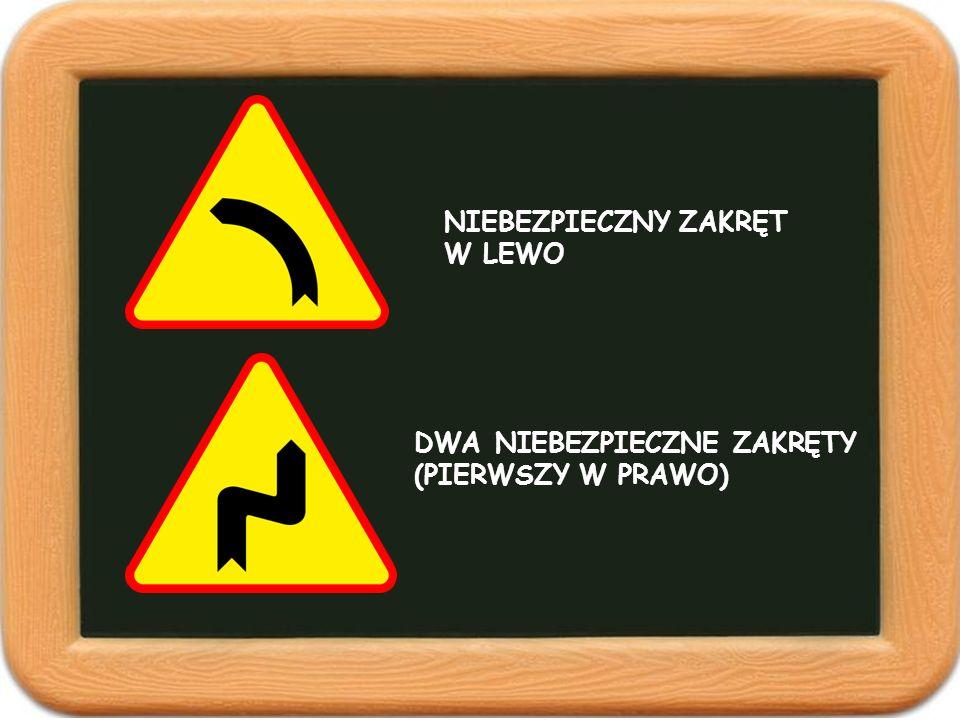 Pokazane niżej znaki to znaki... NAKAZUOSTRZEGAWCZEZAKAZU