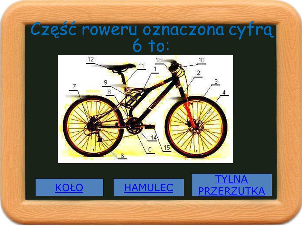 Część roweru oznaczona cyfrą 6 to: KOŁO TYLNA PRZERZUTKA HAMULEC