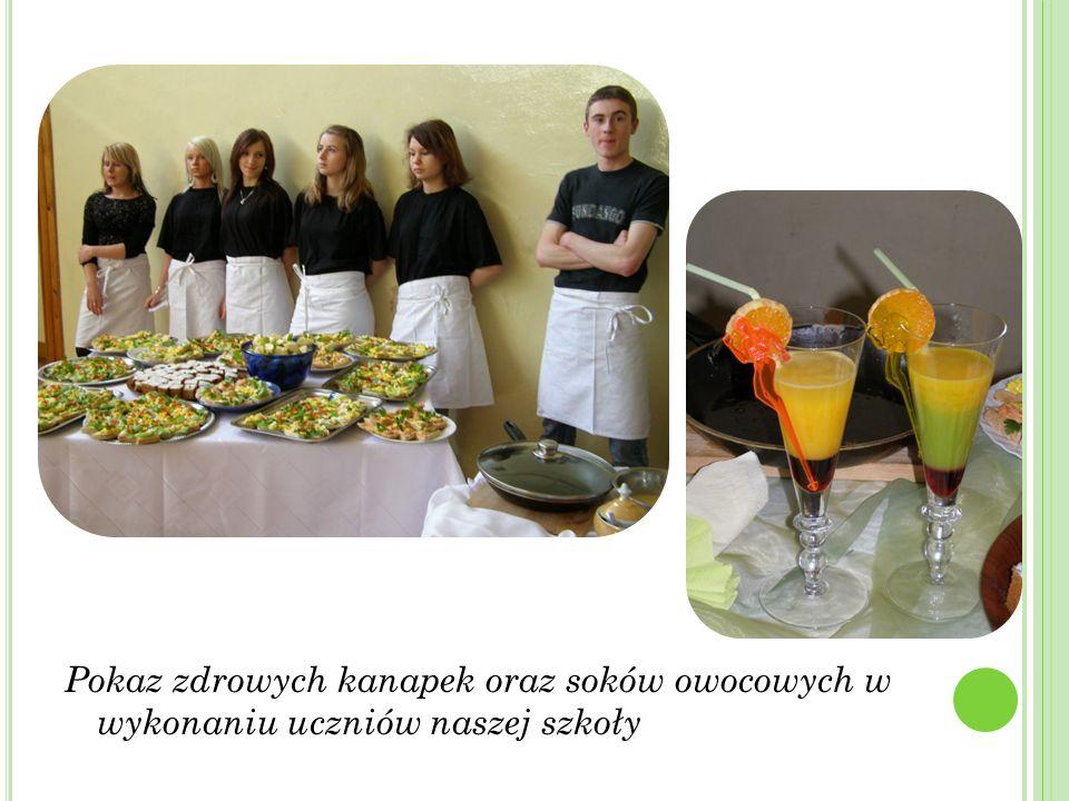 Pokaz zdrowych kanapek oraz soków owocowych w wykonaniu uczniów naszej szkoły