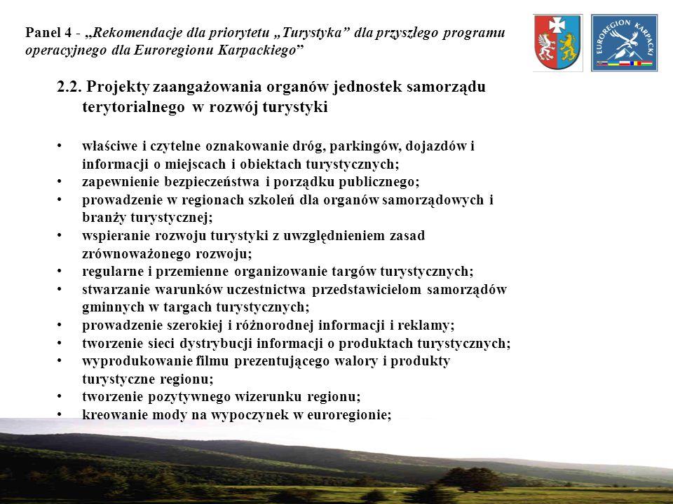 Panel 4 - Rekomendacje dla priorytetu Turystyka dla przyszłego programu operacyjnego dla Euroregionu Karpackiego 3.
