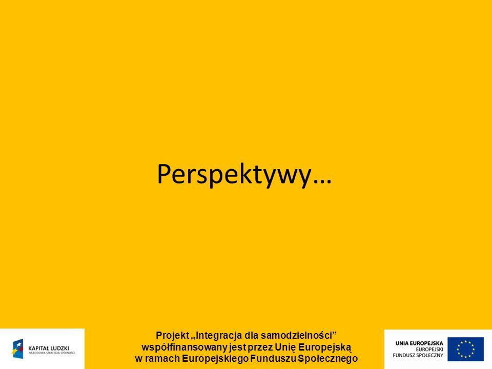 Projekt Integracja dla samodzielności współfinansowany jest przez Unię Europejską w ramach Europejskiego Funduszu Społecznego Perspektywy…