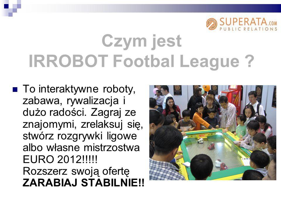 Czym jest IRROBOT Footbal League .To interaktywne roboty, zabawa, rywalizacja i dużo radości.