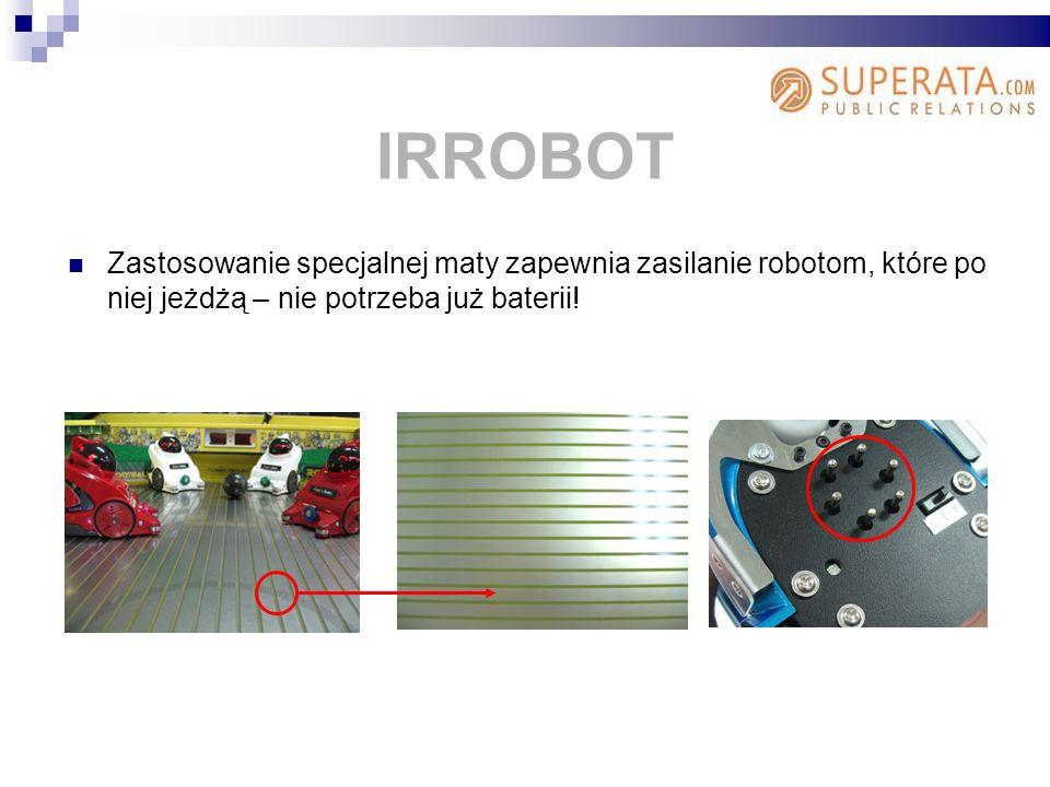 Zastosowanie specjalnej maty zapewnia zasilanie robotom, które po niej jeżdżą – nie potrzeba już baterii.
