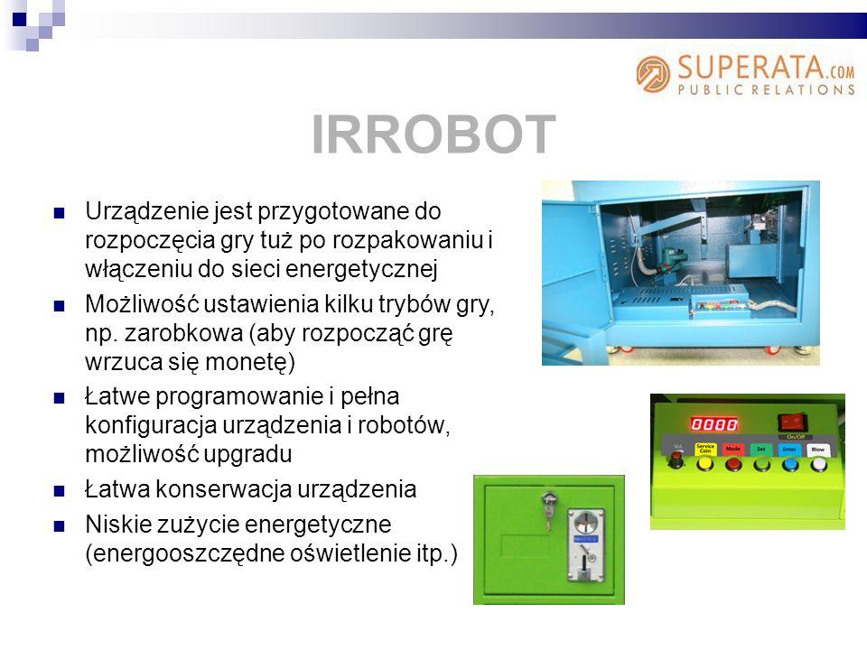 Urządzenie jest przygotowane do rozpoczęcia gry tuż po rozpakowaniu i włączeniu do sieci energetycznej Możliwość ustawienia kilku trybów gry, np.