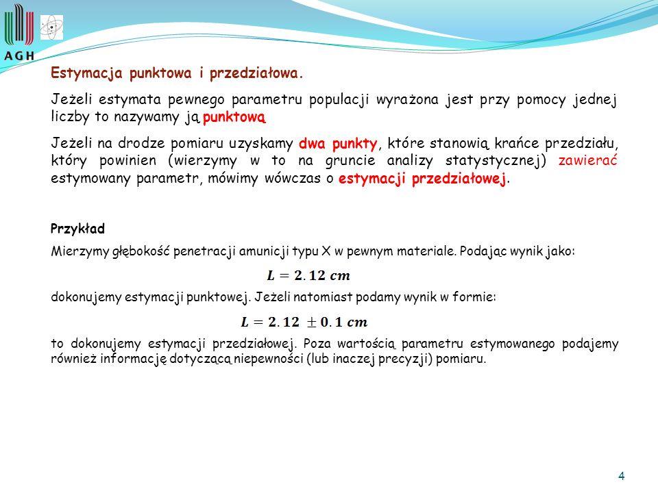 4 Estymacja punktowa i przedziałowa.