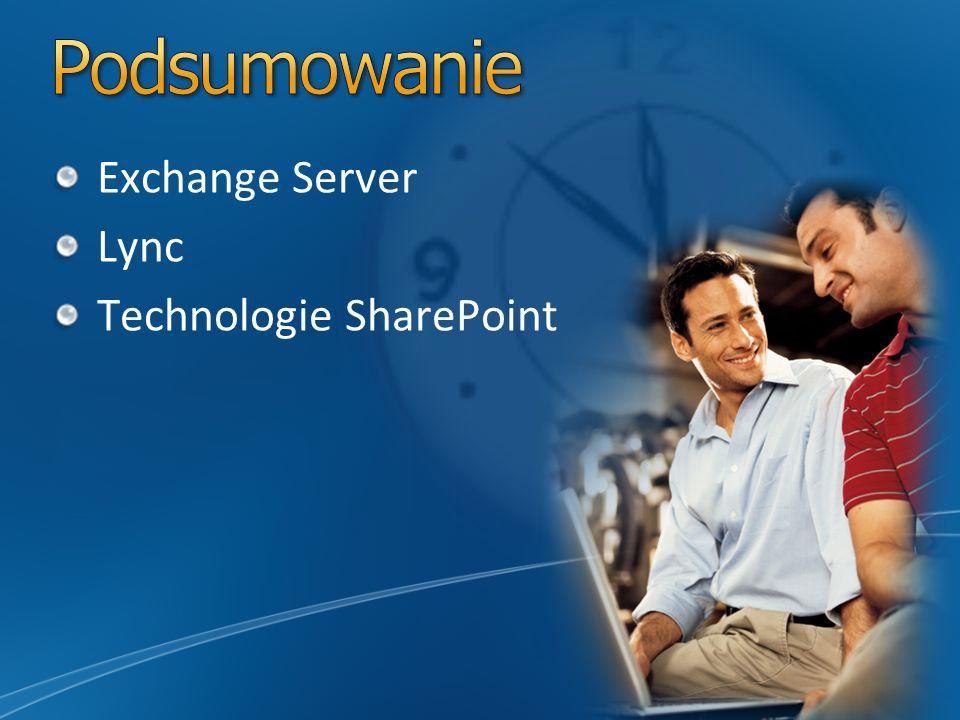 Exchange Server Lync Technologie SharePoint