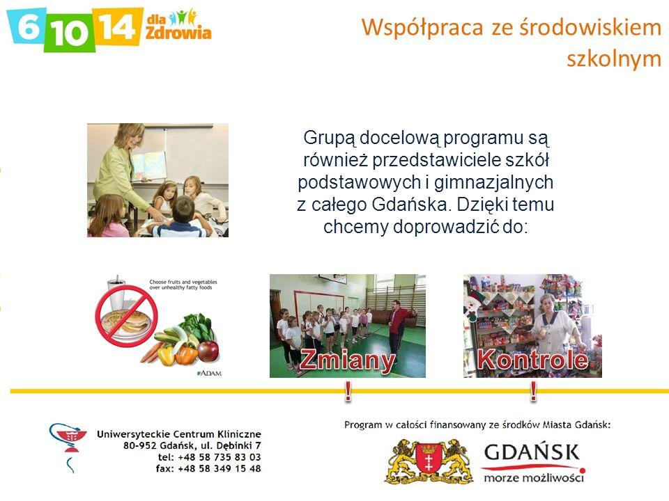 Współpraca ze środowiskiem szkolnym Grupą docelową programu są również przedstawiciele szkół podstawowych i gimnazjalnych z całego Gdańska. Dzięki tem