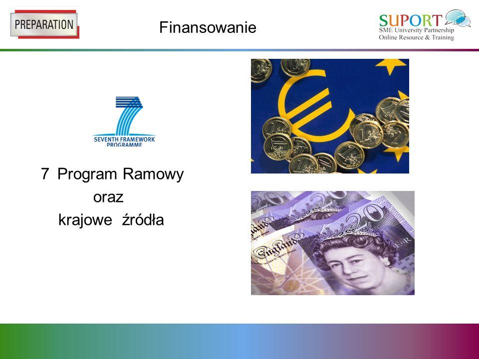 Finansowanie 7 Program Ramowy oraz krajowe źródła