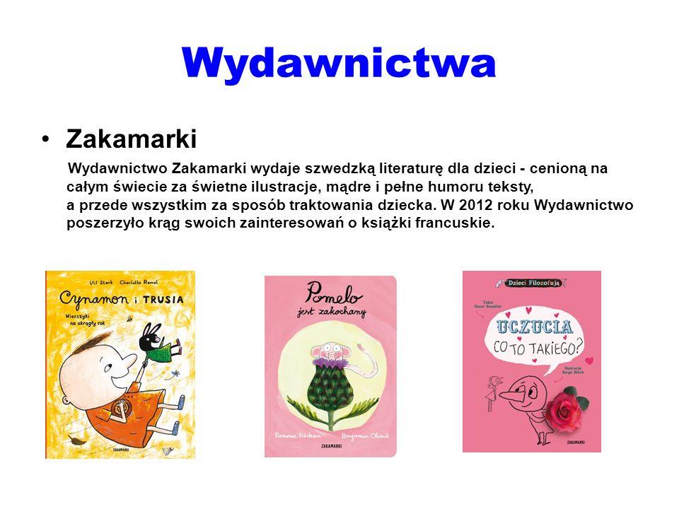 Wydawnictwa Zakamarki Wydawnictwo Zakamarki wydaje szwedzką literaturę dla dzieci - cenioną na całym świecie za świetne ilustracje, mądre i pełne humo