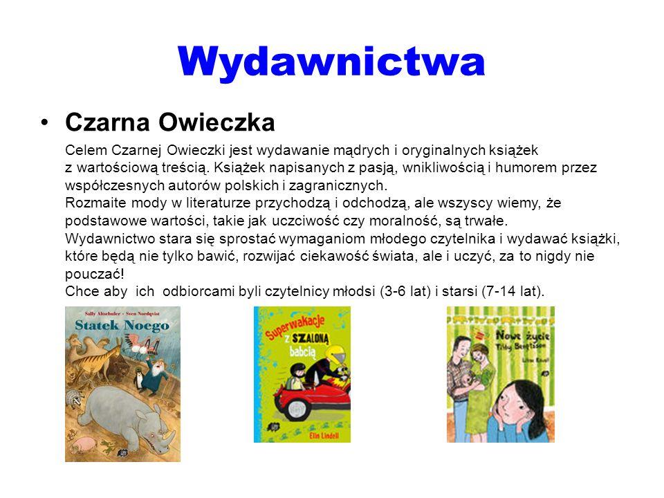 Wydawnictwa Czarna Owieczka Celem Czarnej Owieczki jest wydawanie mądrych i oryginalnych książek z wartościową treścią. Książek napisanych z pasją, wn