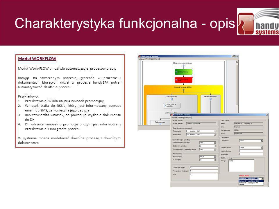 Moduł WORKFLOW Moduł Work-FLOW umożliwia automatyzacje procesów pracy. Bazując na stworzonym procesie, graczach w procesie i dokumentach biorących udz