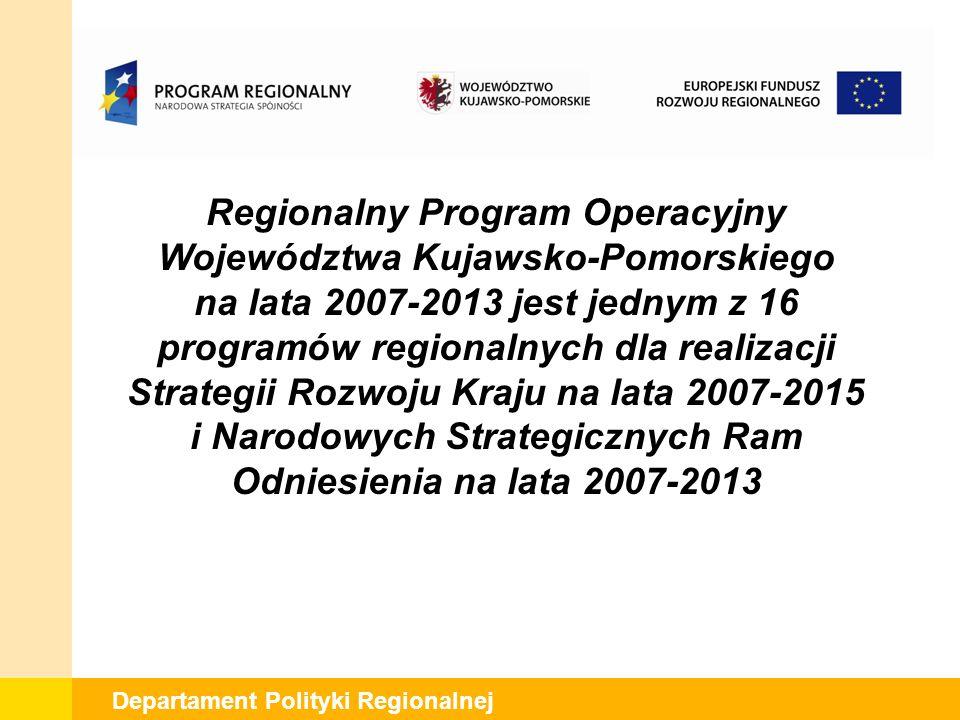 Departament Polityki Regionalnej Minimalna / maksymalna wartość projektu (jeśli dotyczy) Rozwój infrastruktury szkolnictwa artystycznego – max 4 mln PLN, Nie dotyczy projektów kluczowych