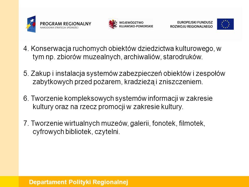 Departament Polityki Regionalnej 4.