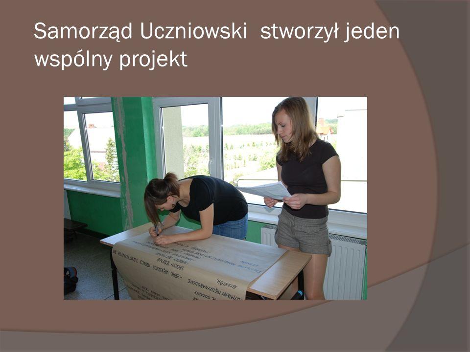 Samorząd Uczniowski stworzył jeden wspólny projekt