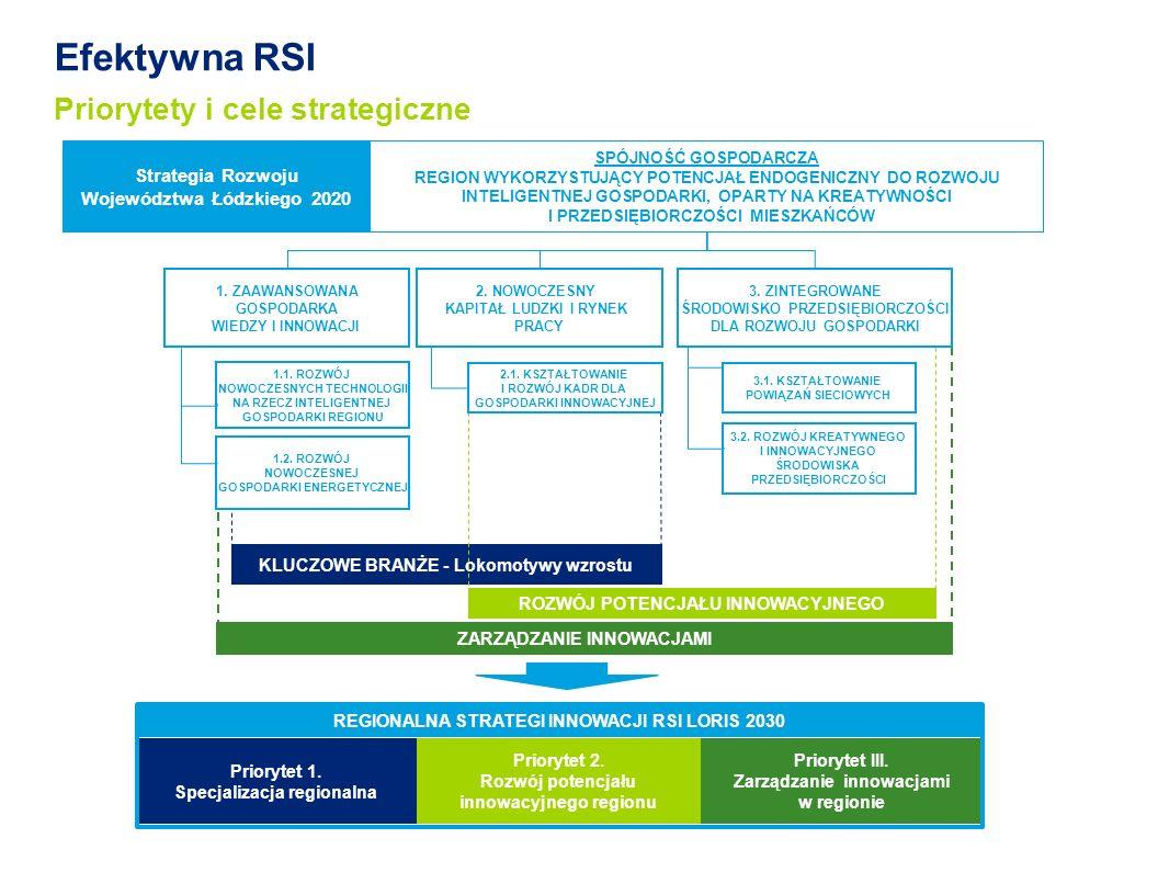 Efektywna RSI Priorytety i cele strategiczne Priorytet 1.