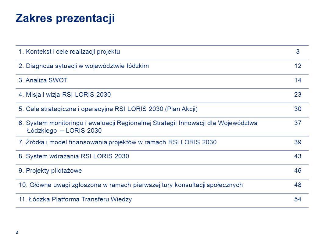 Zakres prezentacji 2 1.Kontekst i cele realizacji projektu3 2.
