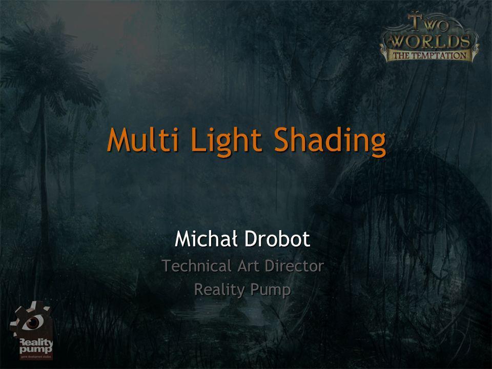Problem wielu światełProblem wielu świateł Architektury oświetleniaArchitektury oświetlenia Forward RenderingForward Rendering Single-pass, multi-lightSingle-pass, multi-light Multi-pass, multi-lightMulti-pass, multi-light Deferred renderingDeferred rendering Deferred ShadingDeferred Shading Plan wykładu