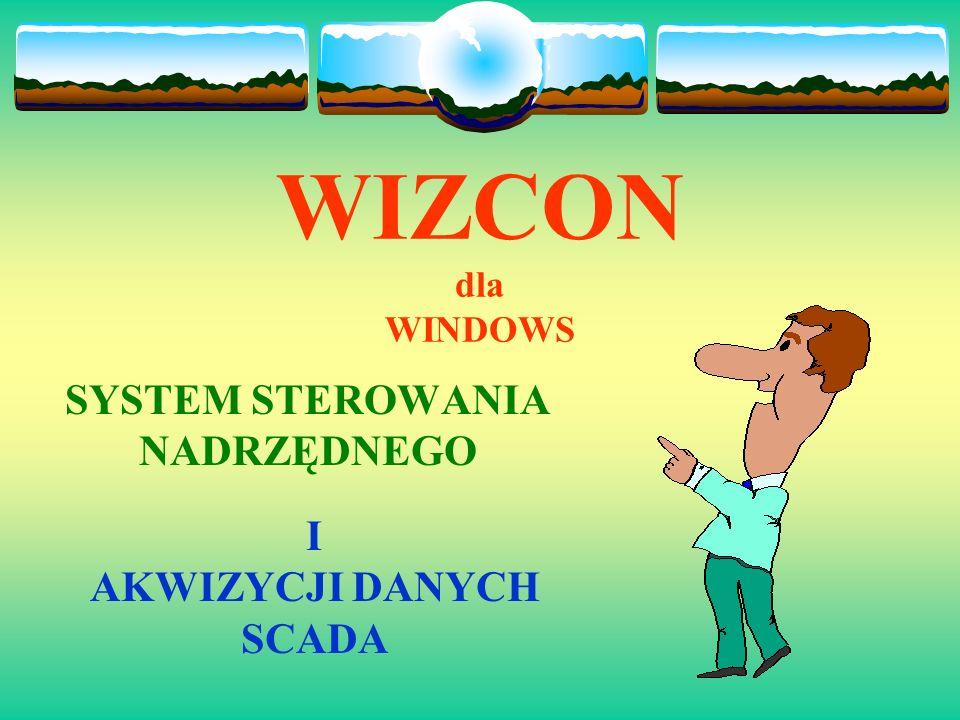WIZCON dla WINDOWS SYSTEM STEROWANIA NADRZĘDNEGO I AKWIZYCJI DANYCH SCADA