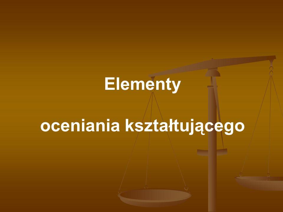 Elementy oceniania kształtującego