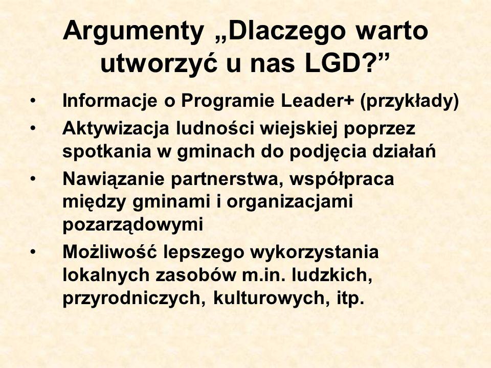 Argumenty Dlaczego warto utworzyć u nas LGD.c.d.