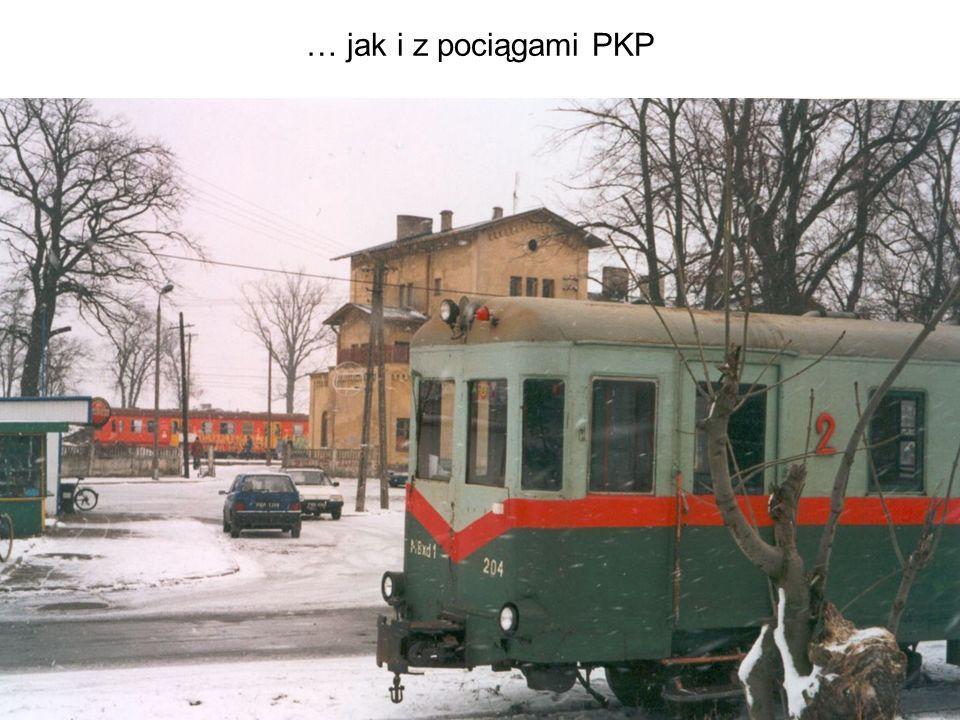 … jak i z pociągami PKP