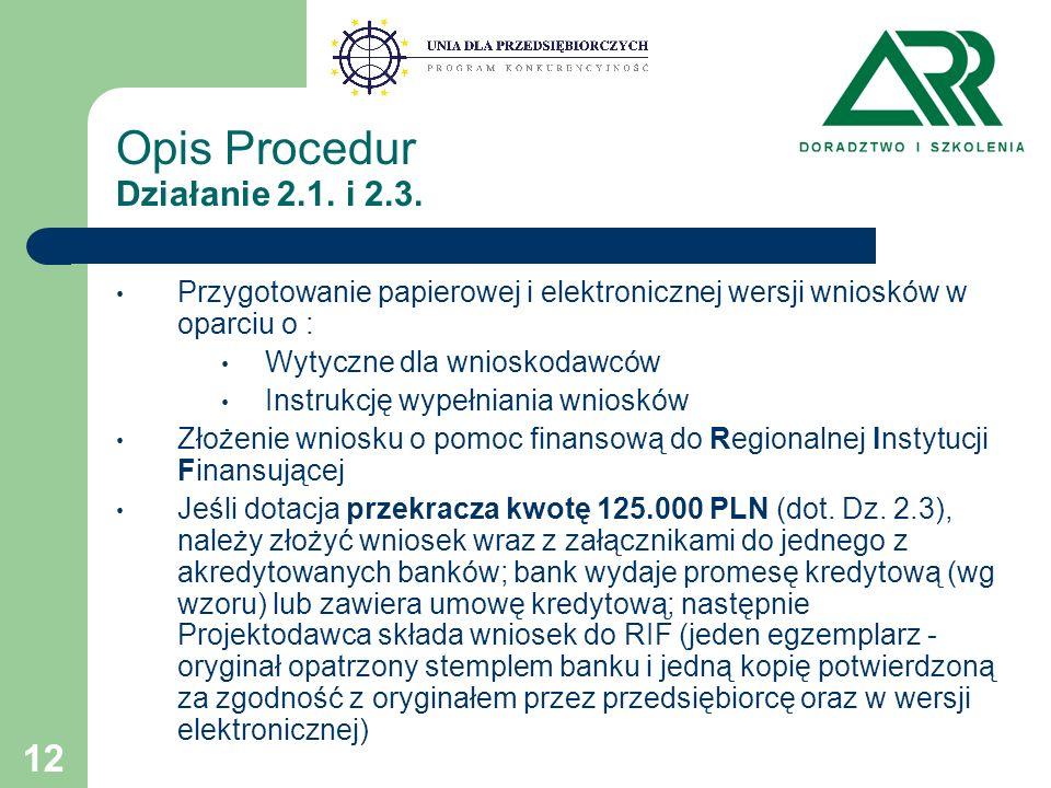 12 Opis Procedur Działanie 2.1. i 2.3.