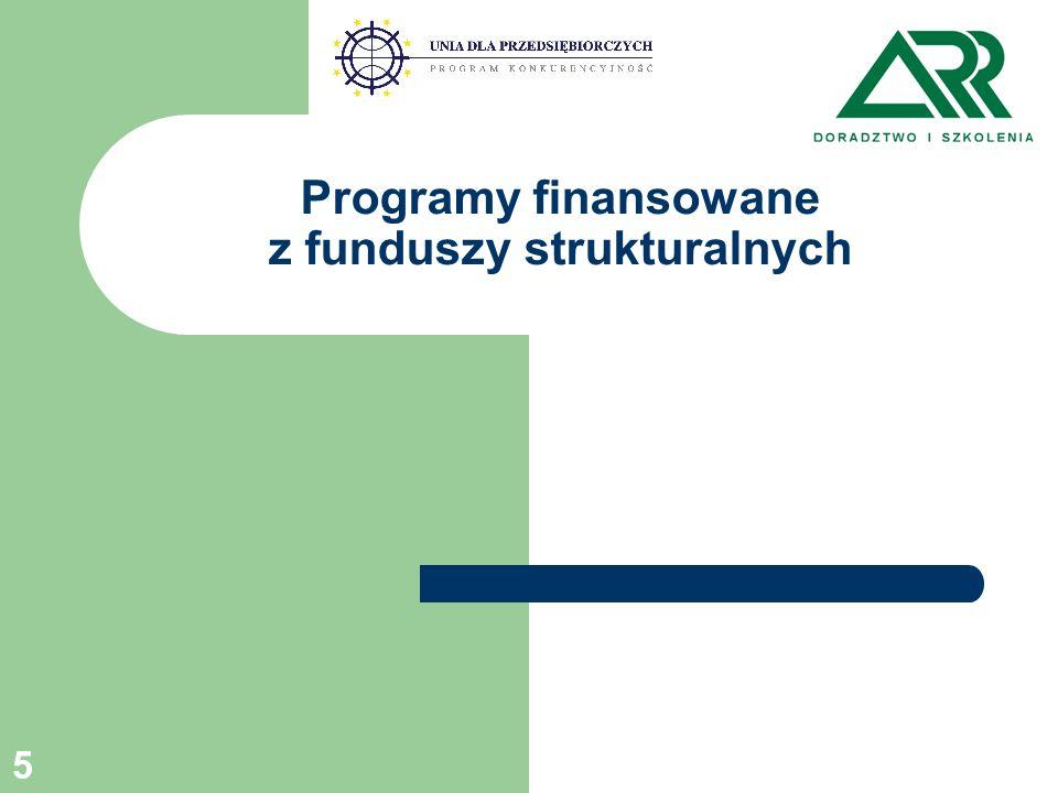 5 Programy finansowane z funduszy strukturalnych