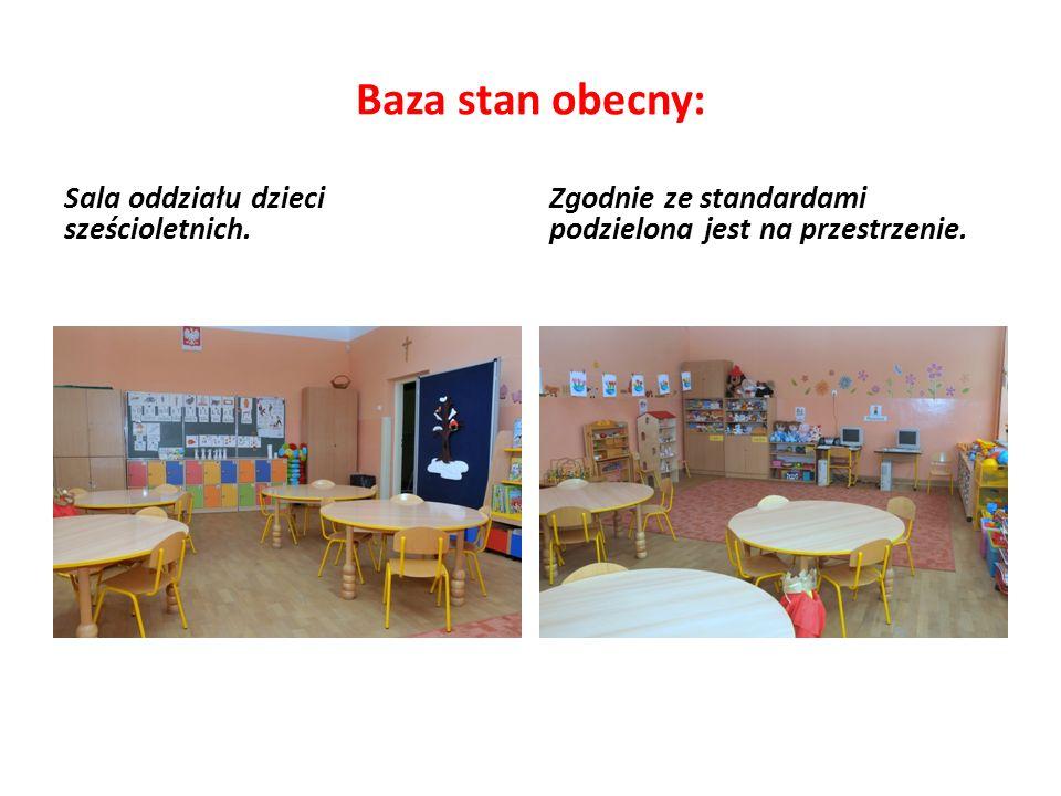 Baza stan obecny: Sala oddziału dzieci sześcioletnich. Zgodnie ze standardami podzielona jest na przestrzenie.