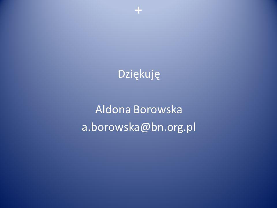 + Dziękuję Aldona Borowska a.borowska@bn.org.pl