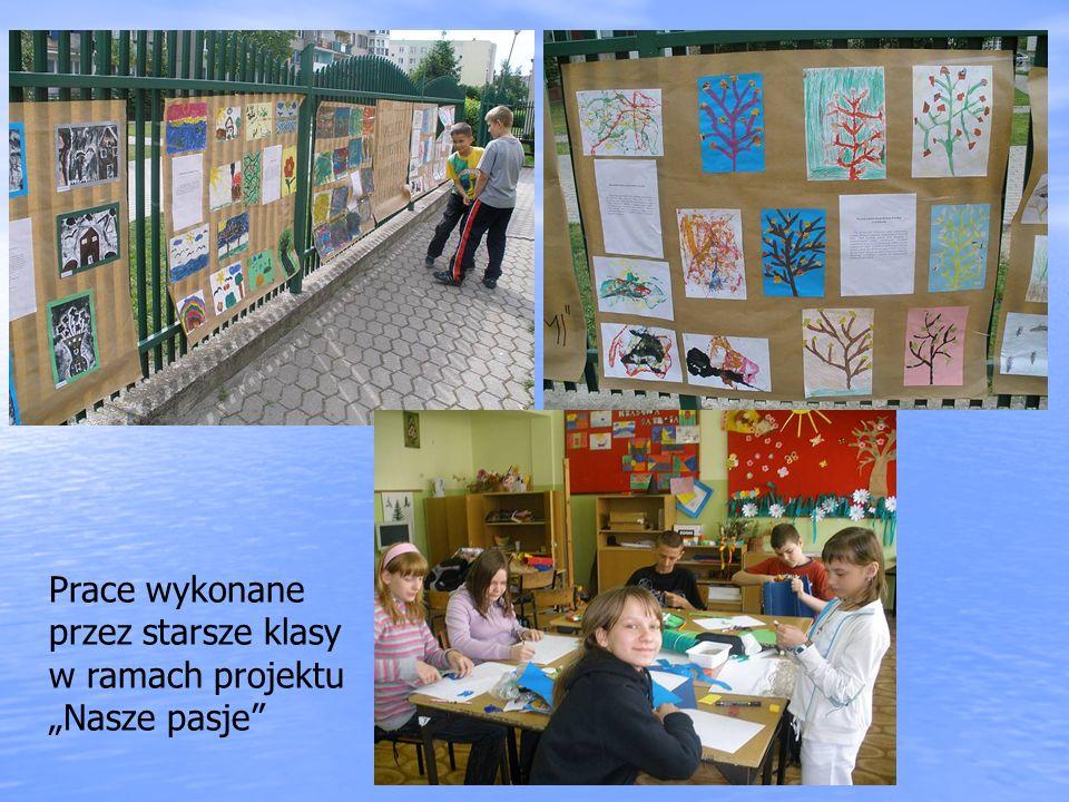 Prace wykonane przez starsze klasy w ramach projektu Nasze pasje