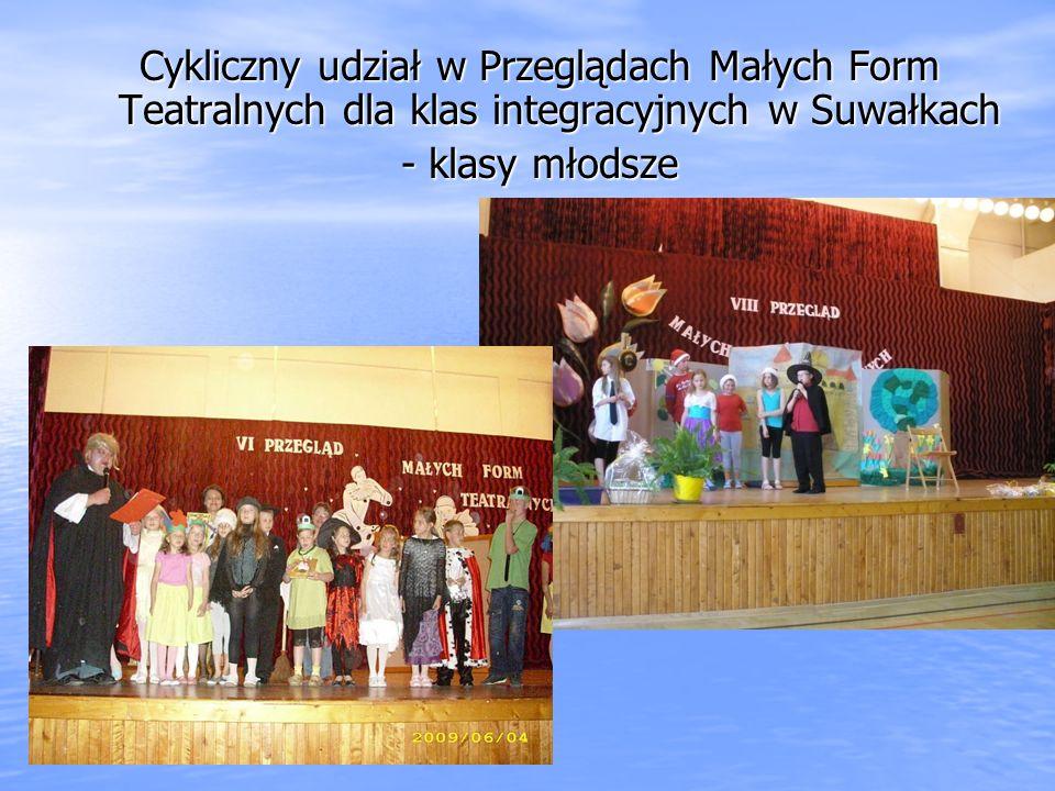 Cykliczny udział w Przeglądach Małych Form Teatralnych dla klas integracyjnych w Suwałkach - klasy młodsze