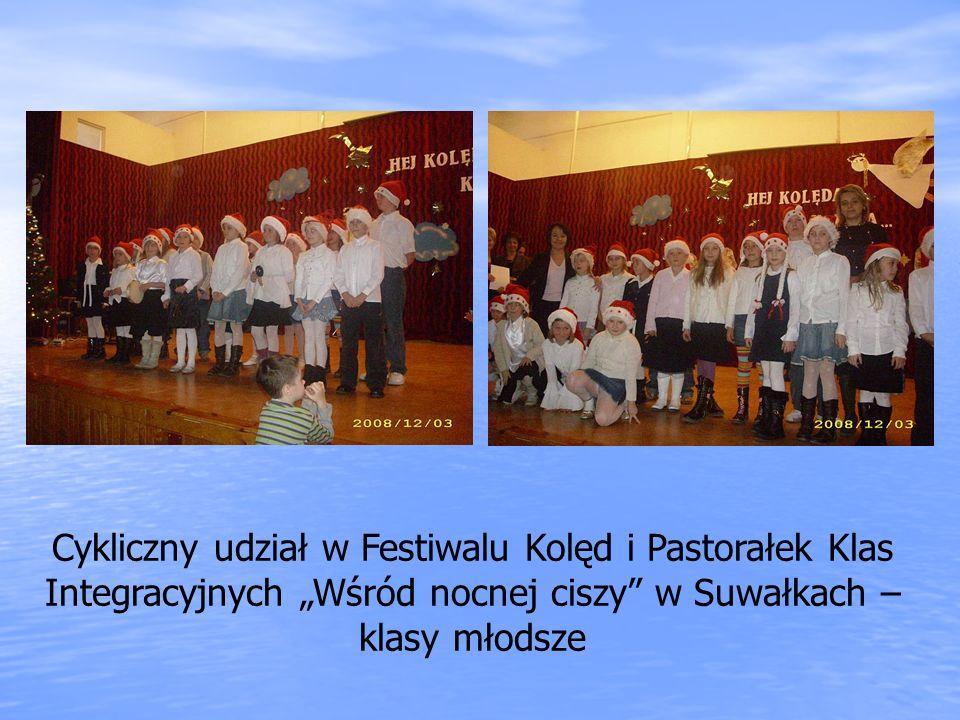 Cykliczny udział w Festiwalu Kolęd i Pastorałek Klas Integracyjnych Wśród nocnej ciszy w Suwałkach – klasy młodsze
