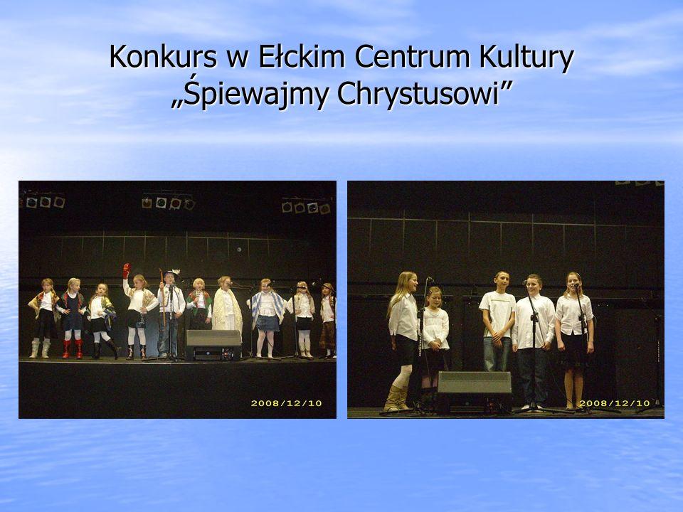 Konkurs w Ełckim Centrum Kultury Śpiewajmy Chrystusowi