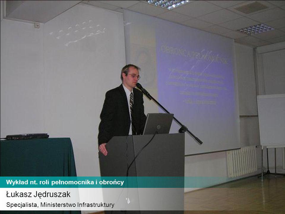 Uczestnicy szkolenia Członkowie Komisji Odpowiedzialności Zawodowej Wykład nt.