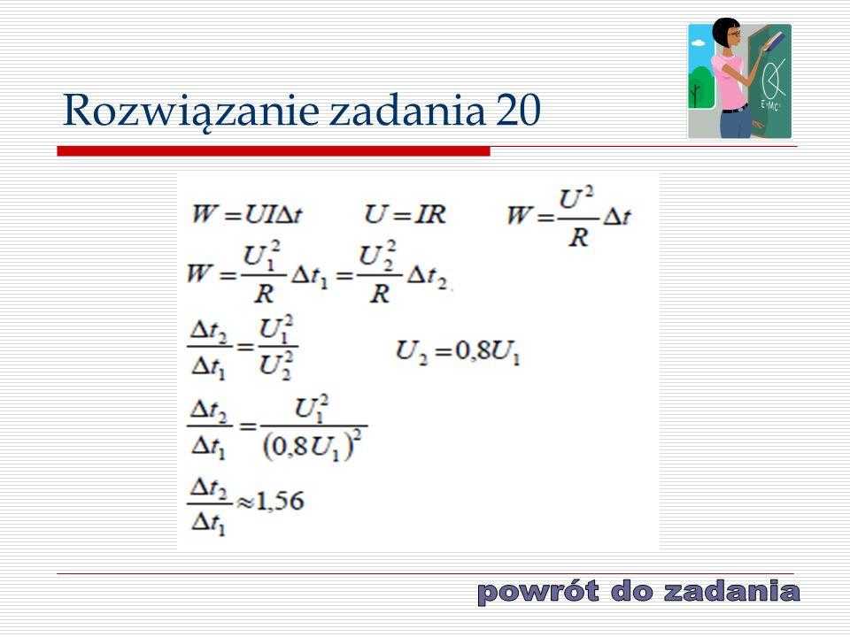 Rozwiązanie zadania 20