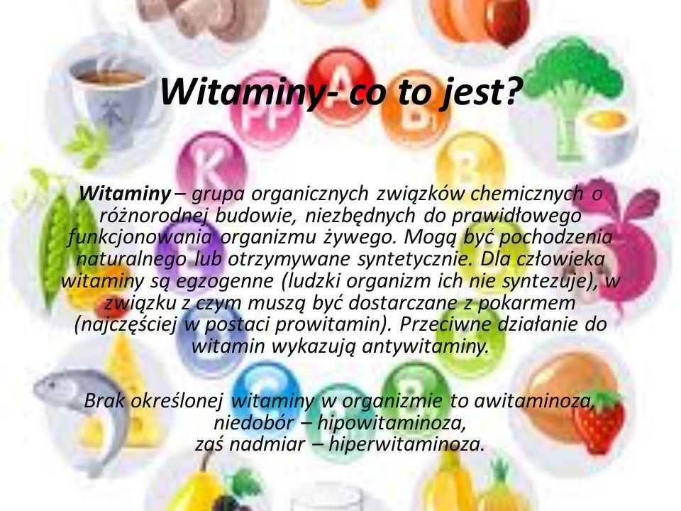 Witaminy - czy są ważne dla naszego organizmu? Autorzy: Sabina Tankiewicz Julia Piekarniak