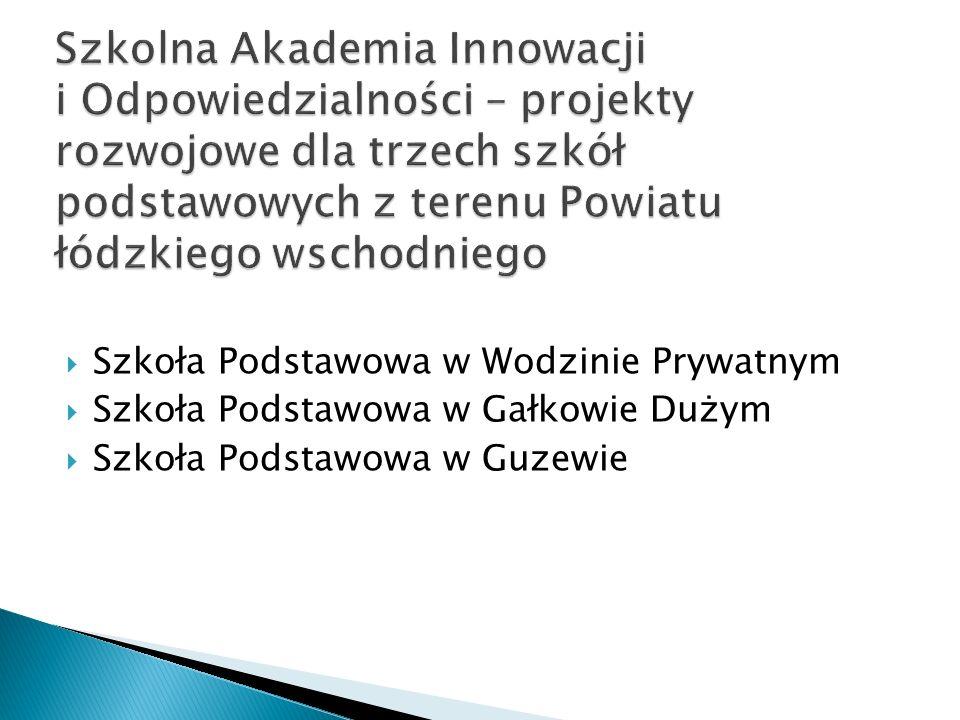 Szkoła Podstawowa w Wodzinie Prywatnym Szkoła Podstawowa w Gałkowie Dużym Szkoła Podstawowa w Guzewie