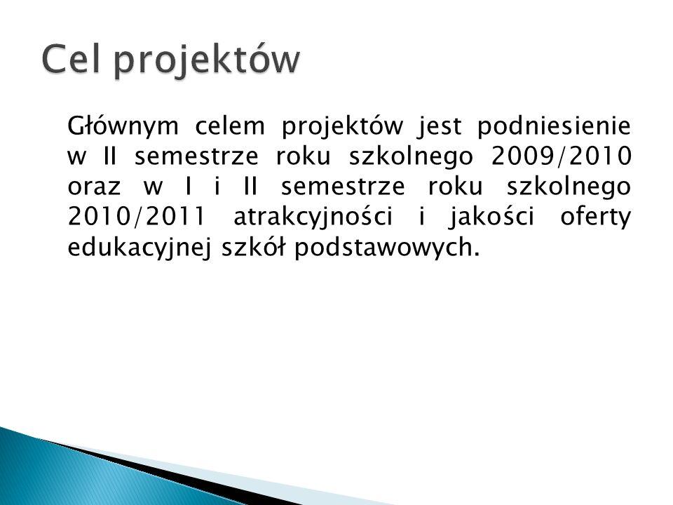 Czas realizacji projektów 1.11.2009-31.08.2011