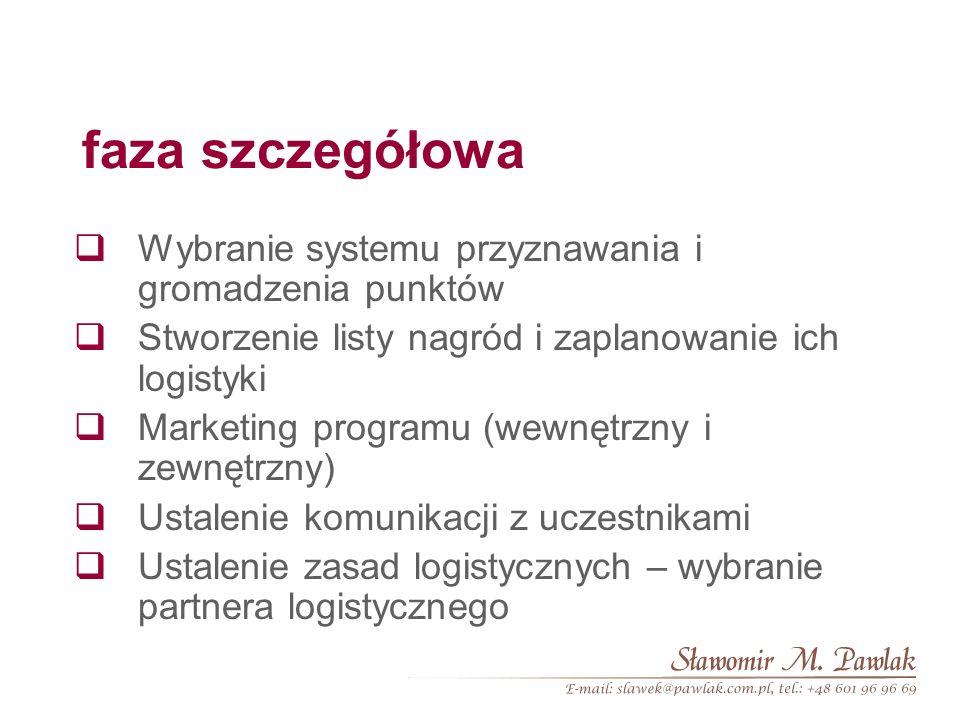 faza wstępna Definicja potrzeb i celu programu Określenie typu programu (sieć dystrybucji, konsumenci, pracownicy) Określenie grupy docelowej – badani