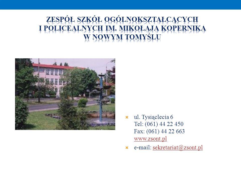 ul. Tysiąclecia 6 Tel: (061) 44 22 450 Fax: (061) 44 22 663 www.zsont.pl www.zsont.pl e-mail: sekretariat@zsont.plsekretariat@zsont.pl